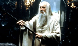Christopher Lee as the wizard Saruman in The Lord of the Rings