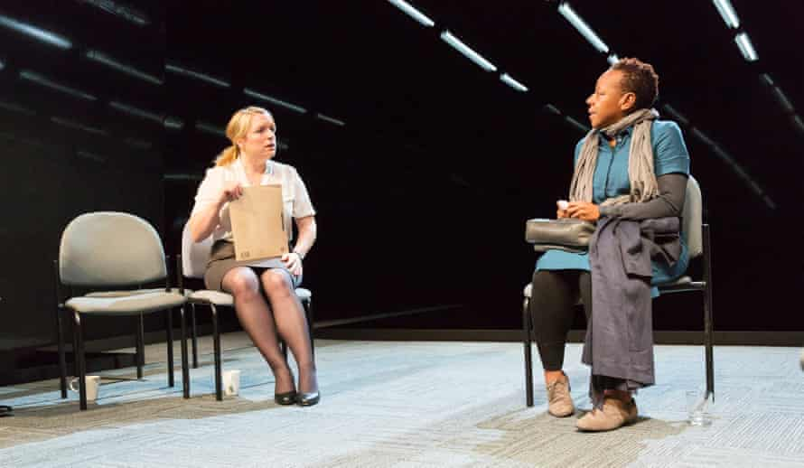 Marianne Jean-Baptiste with Claire Rushbrook in rehearsal for Hang by Debbie Tucker Green.
