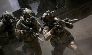 The Navy Seal team in Zero Dark Thirty