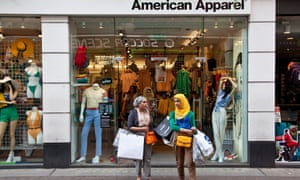 Muslim shoppers on Carnaby street in London