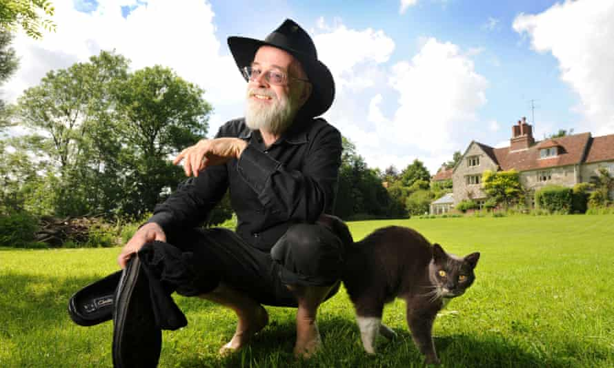 Terry Pratchett, who died in March, at home near Salisbury, Wiltshire.