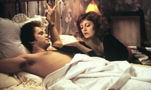 Tim Robbins with Susan Sarandon in Bull Durham