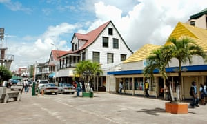 Commercial buildings in the centre of Paramaribo
