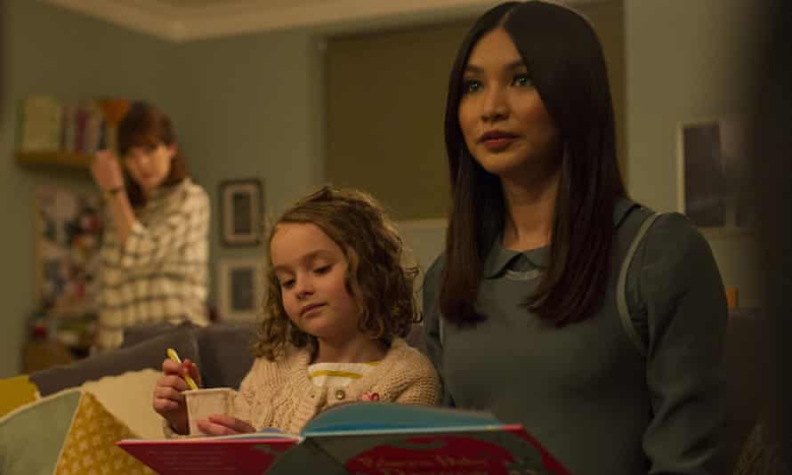 Not such a big leap … Gemma Chan as 'synth' Anita with Sophie (Pixie Davies) in Humans. Photograph: