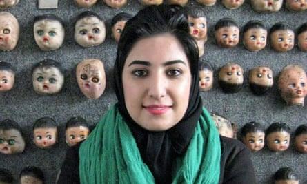 Iranian artist and activist Atena Farghadani.