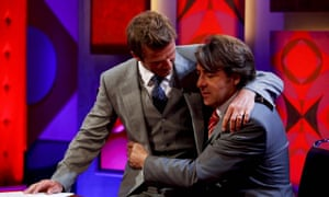 Jonathan Ross – with David Beckham on his knee – when he presented Friday Night with Jonathan Ross on BBC1. Julie Pickford was publicist.