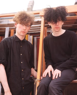 Brothers Jim Reid and William Reid of the Jesus and Mary Chain, London, 1985.