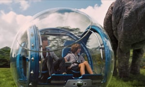 Roaming among the dinosaurs in Jurassic World. What could possibly go wrong?