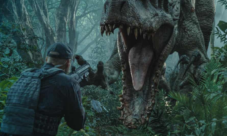 <em>Indominus rex, </em>the gentically-engineered hybrid dinosaur star of Jurassic World.