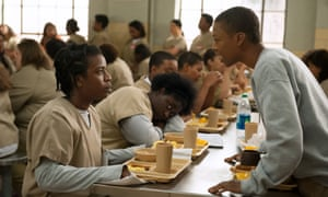 Suzanne (Uzo Aduba) and Poussey (Samira Wiley) in Orange is the New Black.
