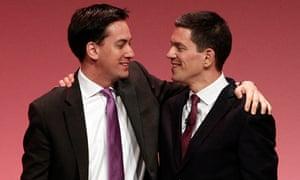 Ed Miliband and David Miliband