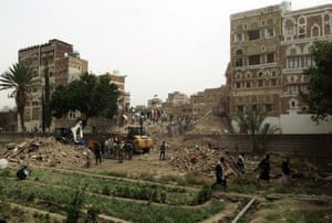 Buildings in the aftermath of the air strike