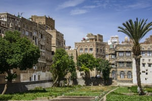 Traditional old houses in the old city of Sana'a