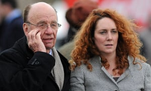 Rupert Murdoch and Rebekah Brooks in 2010. Mike Darcey's departure leaves the way open for her return to the company.