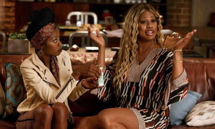 Laverne Cox (right)  in The Mindy Project
