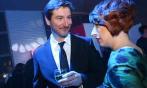 Journalists Anton Krasovsky and Tatyana Felgengauer at the Edward Snowden Internet Media Awards in 2014 in Moscow.