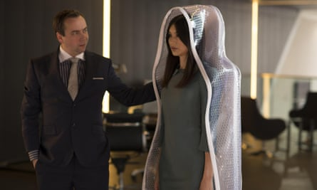 Dan Tetsell and Gemma Chan in Humans