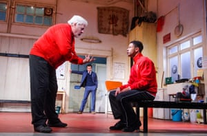 Peter Wight, Daniel Mays and Calvin Demba in The Red Lion.