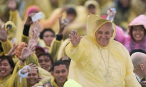 Pope Francis on a visit to the Philippines in January.