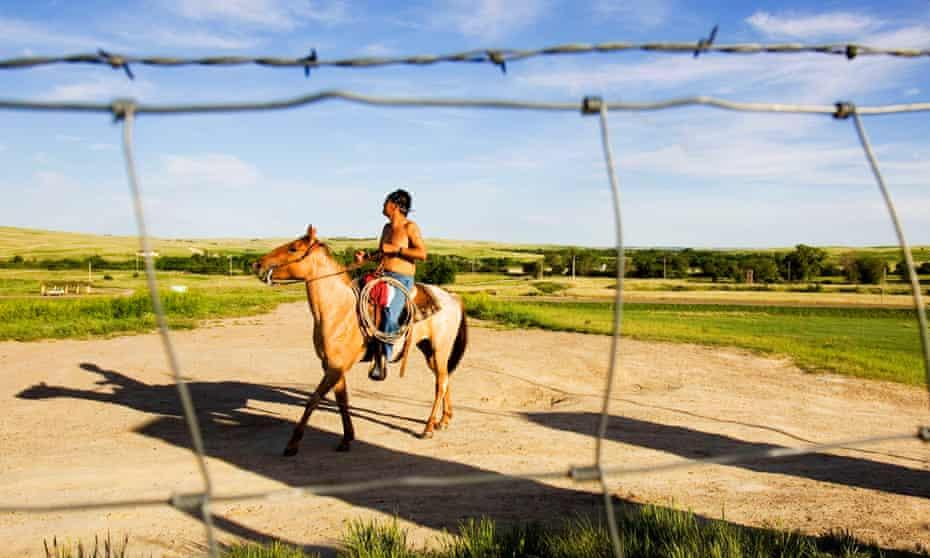 native american on horseback
