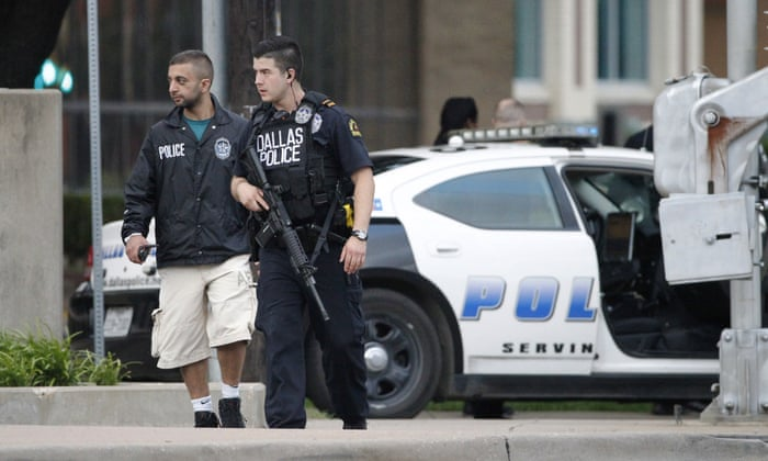 Dallas police confirm HQ attack suspect shot by sniper is