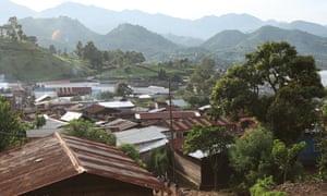 Minova in eastern Congo