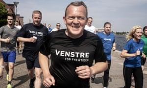 Danish Liberal party leader Lars Loekke Rasmussen running for office