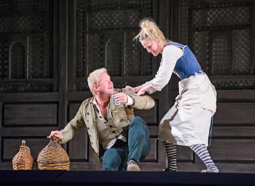 Brenden Gunnell (Pedrillo) and Mari Eriksmoen (Blonde) in Die Entführung Aus Dem Serail by Mozart at Glyndebourne.
