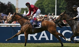 Frankie Dettori and Star of Seville after winning the Prix de Diane at Chantilly