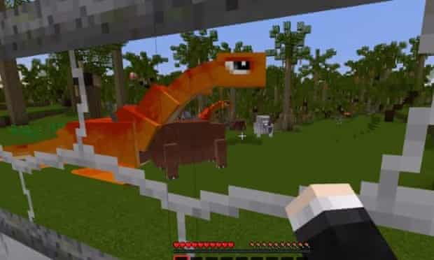 The Diamond Minecart meets Jurassic World in channel's latest YouTube Minecraft video.