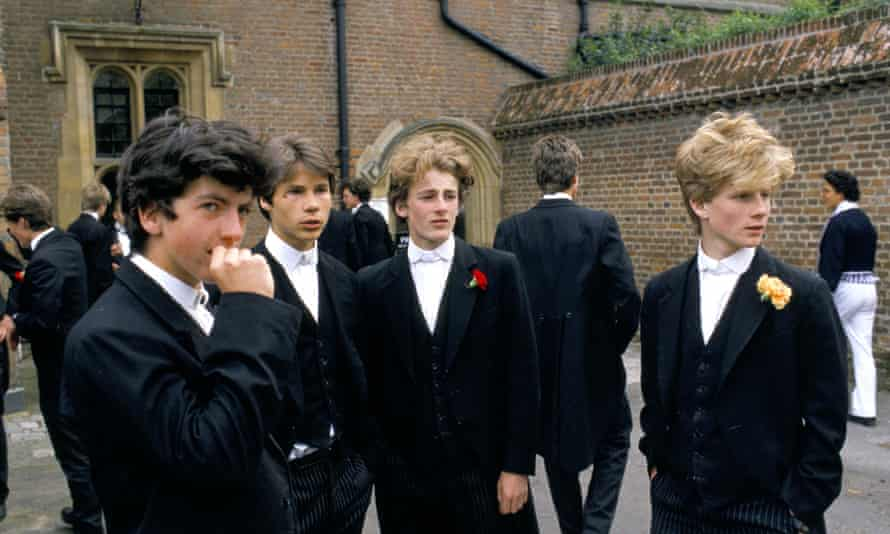 Schoolboys at Eton. The research showed how recruiters favoured certain accents and mannerisms.