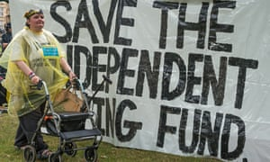 Protest to save the independent living fund