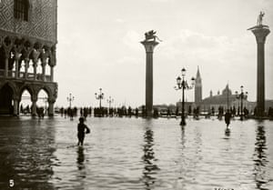November 1927: <em>Acqua alta </em>(high water) is the term used in Venice for the annual flooding that occurs mainly in the winter months as a result of a convergence of high-tides and a strong sirocco wind in the Venitian Lagoon.