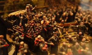 Sixty thousand toy soldiers, chopped up, remodelled and recast … a detail from Hell.