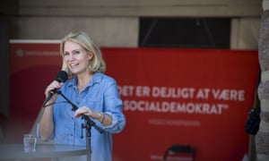 Thorning-Schmidt campaigning.