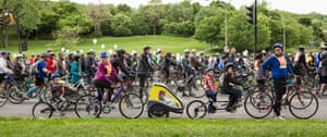 Montreal cycle parade