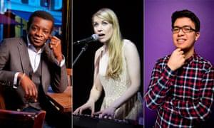 comedians Stephen K Amos, Rachel Parris and Phil Wang