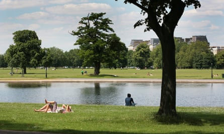 Clapham Common in south London.