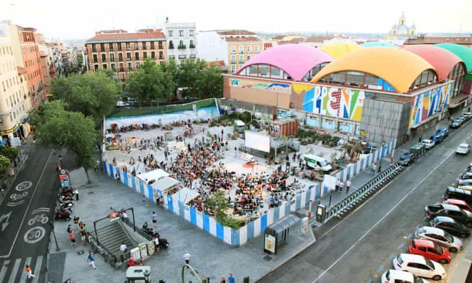 Campo de Cebada in Madrid.