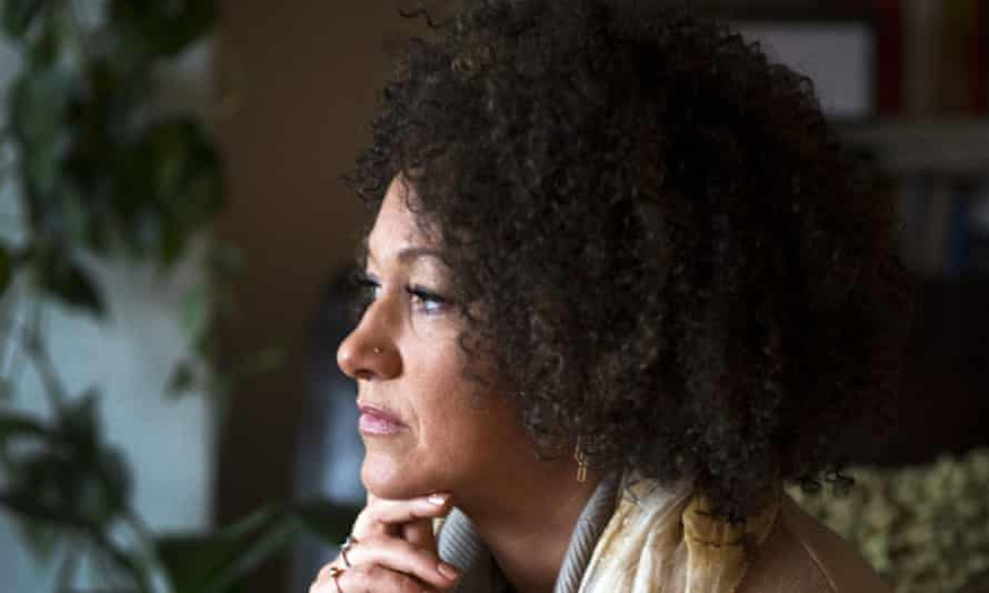 Rachel Dolezal poses for a photo in her Spokane, Washington, home.