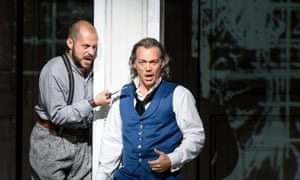 Lex Esposito as Leporello and Christopher Maltman as Don Giovanni at the Royal Opera House.