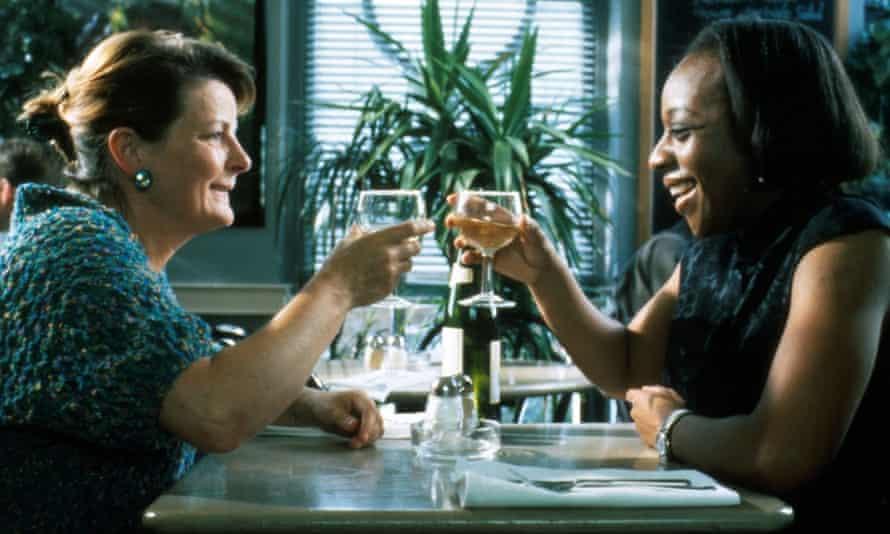 Marianne Jean-Baptiste with Brenda Blethyn in Secrets & Lies.