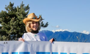 The actress and activist Jane Fonda was in Vancouver for 'Toast the Coast' to protest plans by Shell Gas to build oil pipelines