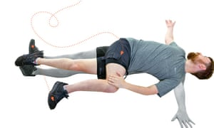 The twist is good for loosening stiff back muscles. All photographs: Graham Turner for the Guardian