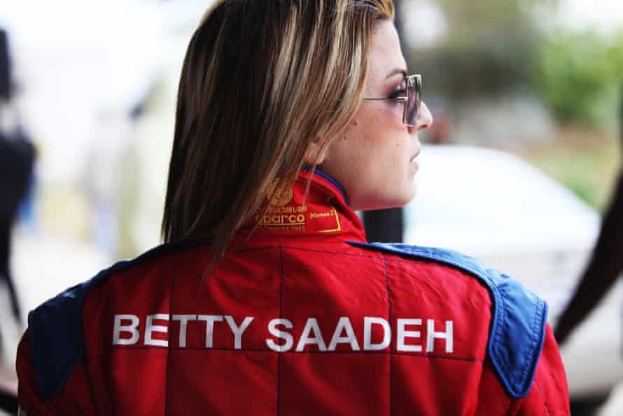 Palestinian racing driver Betty Saadeh