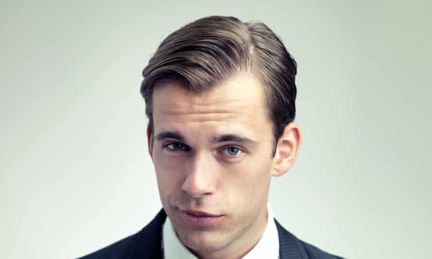 Hair worn swept back is the default setting for posh men.