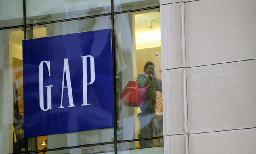 A woman shops at a Gap store in New York.