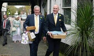 Jeremy Pemberton (left) and Laurence Cunnington were married in 2014.