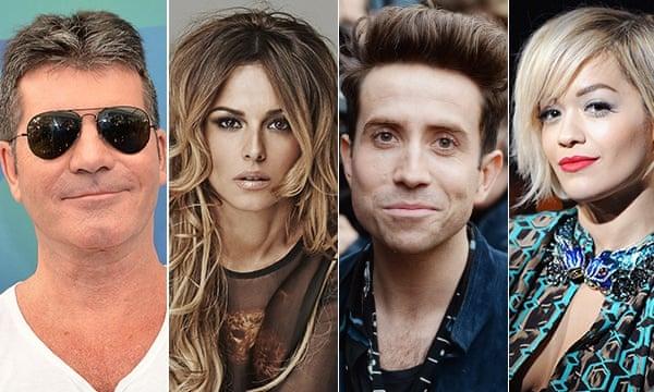 Simon Cowell, Cheryl. Grimmy and Rita Ora. Oh, dear.