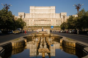 The Palace of the Parliament in Bucharest, formerly the Romanian Communist leader Ceausescu's palace.